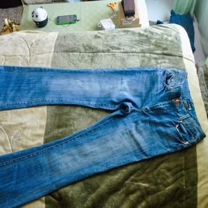 smooth wide leg jeans